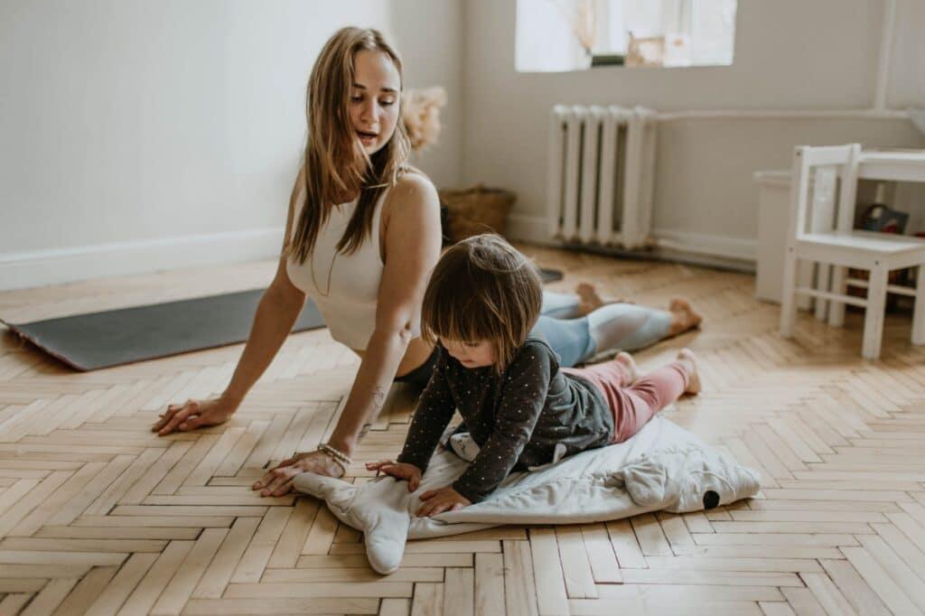 Session de yoga parents enfants