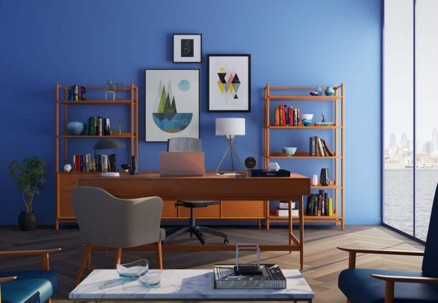 un bureau dans un espace de travail agréable