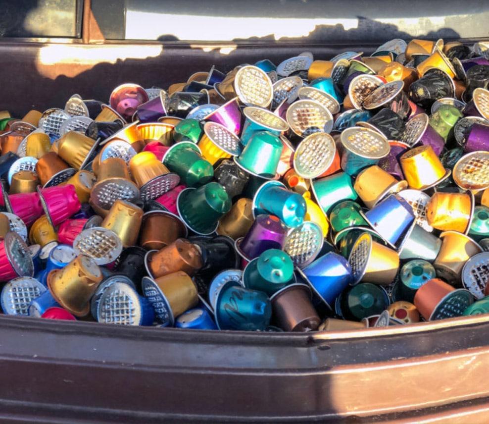 montagne de capsules de café