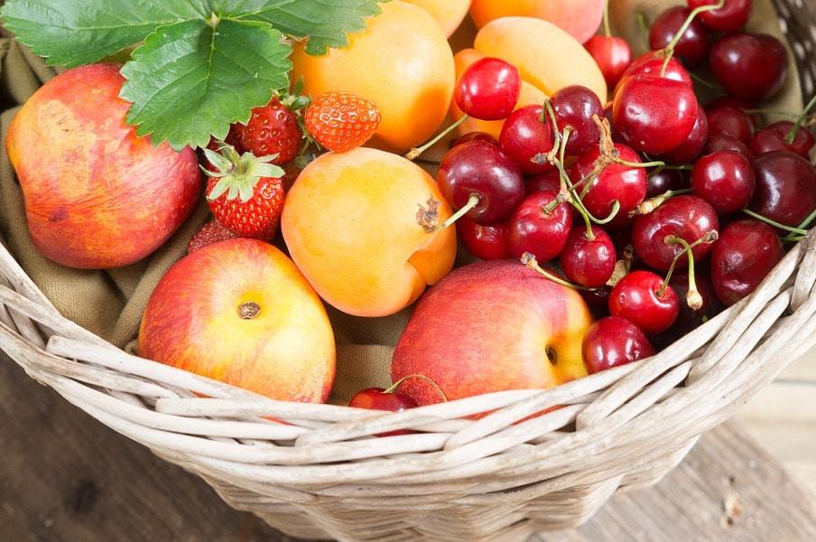 corbeille de fruits frais au bureau braam