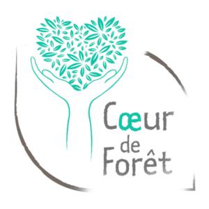 Logo cœur de forêt