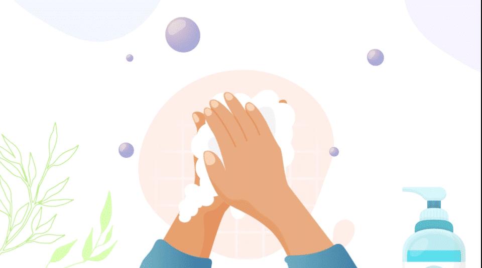 des mains qui se désinfectent avec du gel hydroalcoolique solidaire umano