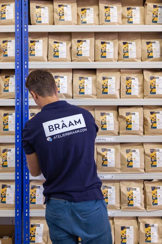 Stock de café Brâam